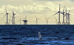 world's largest offshore wind farm. Cumbria, UK. opened 2/9/12. will provide enough power for 320,000 homes.