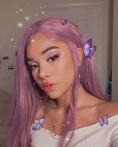 Cute Hairstyles, Braided Hairstyles, Pastel Purple Hair, Curly Hair Styles, Natural Hair Styles, Indie Girl, Pretty Black Girls, Festival Makeup, Bad Girl Aesthetic