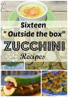 Great Zucchini List- Lots of fun finger foods.