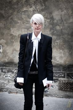 Style icon and Elle fashion editor rock star Kate Lanphear; Photography by Garance Doré