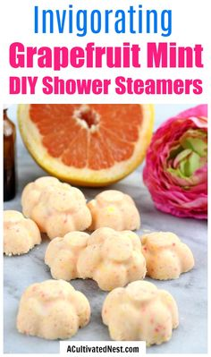 Grapefruit Mint DIY Shower Steamers- If you struggle to really wake up in the morning, then you need these grapefruit mint DIY shower steamers in your shower or bath! They're so invigorating, and such a great way to wake up! | how to wake up easier in the morning, wake up happy, #diy #diybeauty #craft #selfcare #showerSteamers #essentialOils #diyGift #homemade