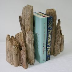 Driftwood Bookends, Drift Wood.driftwood Art, Pair