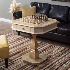 Get the whole family together for game night with the Signature Ash Multi-Game Table . Its beautiful craftsmanship is hard to deny and it can easily. Multi Game Table, Games On Sale, Chess Set Unique, Chess Table, Table Games, Ash, Family Room, Dining Room, Design Inspiration