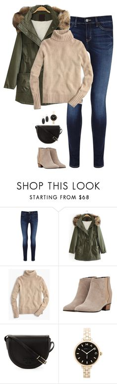 """""""Black, tan & army green"""" by steffiestaffie ❤ liked on Polyvore featuring MiH, J.Crew, Golden Goose, Tory Burch, Marc by Marc Jacobs and Kendra Scott"""