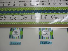 I want round signs- but upper & lowercase LOVE the alphabet and number line