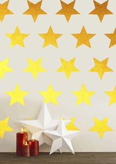 Star Pattern Wall art South Africa Stickart Christmas Gold Wall Patterns, Star Patterns, Vinyl Wall Art, Wall Decals, Gold Christmas, Party Printables, South Africa, Graffiti, Wallpaper
