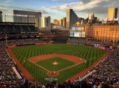 Oriole Park at Camden Yards, the home of the Baltimore Orioles.