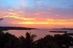 coucher de soleil - Guesthouse Los Secretos - isla Bastimentos - Bocas Del Toro - Panama  http://www.otourdumonde.fr