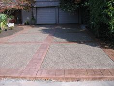 Stamped/Colored Concrete with Exposed Aggregate Driveway
