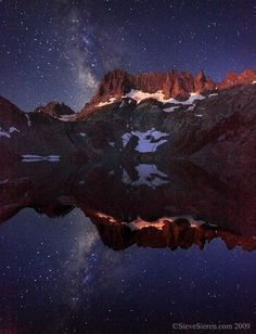 Minarets and the Milky Way, Eastern Sierra of California by maria.t.rogers