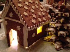 Gingerbread house Gingerbread, Cookies, Cake, Desserts, House, Food, Crack Crackers, Tailgate Desserts, Deserts