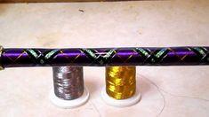 Diamond Wrap with Gold Turks Head Knot on Salmon rod - YouTube