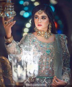 Pakistani Bridal Makeup, Pakistani Wedding Outfits, Pakistani Dresses, Bridle Dress, Frock Fashion, Saree Fashion, Muslim Fashion, Fashion Dresses, New Designer Dresses