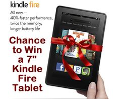 Chance to Win a 7″ Kindle Fire Tablet Computer i need to win christmas this year