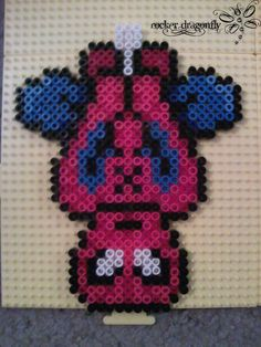 Spider Man hanging, perler beads