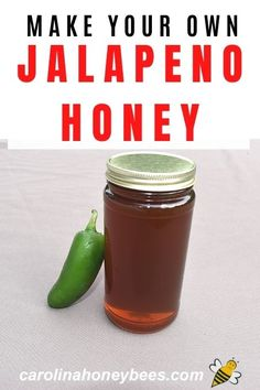 Its super easy to infuse honey with jalapeno peppers.  Make your own hot honey.   #carolinahoneybees #hothoney #jalapeno #honeygifts