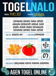 Paito JP 2D Togel Wap Online TogelNalo Surabaya 19 Mei 2017