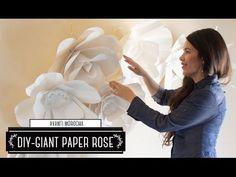 DIY Giant Paper Rose III -How to Make a Paper Flower Backdrop – AvantiMorocha Blog
