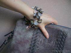 #handmade #giftideas Brown agate gemstone bracelet Beige semiprecious stone bracelet Brown ivory agate multi-layer bracelet… #etsy #etsymntt