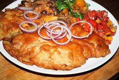 Kotlet schabowy w chrupiącym cieście,mięso,schab,obiad Paella, Lamb, Curry, Pork, Food And Drink, Meat, Ethnic Recipes, Places, Easy Meals
