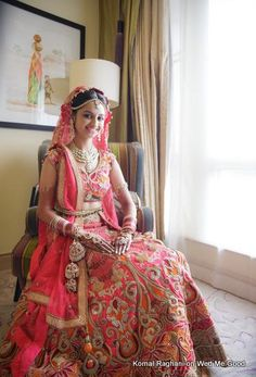 Looking for Komal Raghani Bridal Wear Designer? Browse of latest bridal photos, lehenga & jewelry designs, decor ideas, etc. on WedMeGood Gallery. Indian Bridal Outfits, Indian Bridal Lehenga, Indian Bridal Wear, Indian Dresses, Bridal Dresses, Indian Wear, Wedding Attire, Wedding Bride, Wedding Lehnga