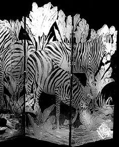 Zebra art glass