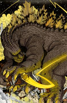 Godzilla Sinestro Corps by ragelion.deviantart.com - Godzilla x DC Godzilla wielding the pure power of FEAR...