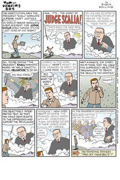 TOM THE DANCING BUG: The Return of Judge Scalia! / Boing Boing