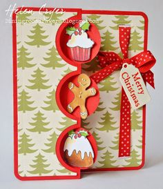 The Dining Room Drawers: Sizzix Triple Circle Flip-its and Purple Onion Design Christmas Card