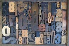 letter press Antique Letterpress Printers WOOD TYPE Block Mix of NUMBERS via Etsy