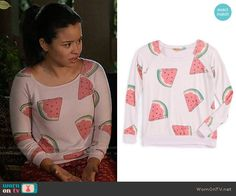 Mariana's watermelon print sweatshirt on The Fosters.  Outfit Details: https://wornontv.net/65986/ #TheFosters