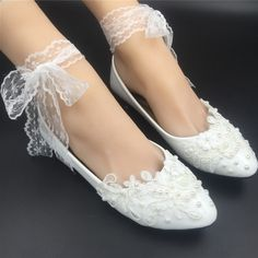 Wedding Ballet Flats for a perfect wedding day. Whether it is a beach wedding, winter wedding, bohemian garden party or a wedding at a beautiful old building, this simple but incredibly elegant pair will make your day and you can dance longer t...