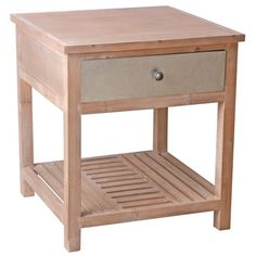 Provincial Short Side Table - Natural