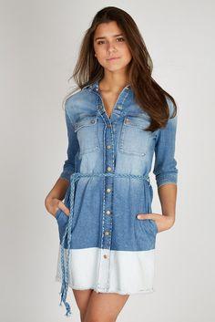 denim dress #streetstyle #seven #7forallmankind #casual