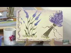 Como Pintar Flores en Pinceladas Lavanda - Hogar Tv  por Juan Gonzalo Angel One Stroke Painting, Garden Inspiration, Decoupage, Lavender, Decorative Paintings, Tapestry, Invitations, Holiday, Fun