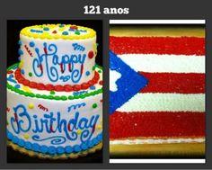 ☀Puerto Rico☀Hoy Junio 11 2013 nuestra bandera cumple sus 121 años. Happy Birthday! Puerto Rico Usa, Birthday Candles, Birthday Cake, Puerto Rican Recipes, Puerto Ricans, Deserts, Cuba, Jr, Island