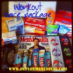 Pinner wrote: First care package for my honey! The workout care package! Soldier Care Packages, Deployment Care Packages, Soldier Care Package Ideas, Carla Diaz, Military Deployment, Deployment Gifts, Army Life, Army Mom, Army Girlfriend