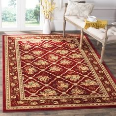 Shop for Safavieh Lyndhurst Traditional Floral Trellis Red Rug (9' x 12'). Get free shipping at Overstock.com - Your Online Home Decor Outlet Store! Get 5% in rewards with Club O! - 14106872