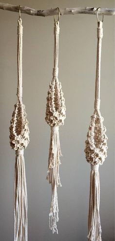 This Listing is for the Macramé Pattern to make the above 3 variations of the Nana Nest Macramé Hanger for Air Plants or anything else your heart desires. If youre looking for the Actual Plant Hangers you can find them here http://etsy.me/2iT9pfx You can use any 1/8 (4 mm) cord. The