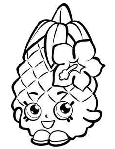 fruit pineapple shopkins season 1 coloring pages printable and coloring book to print for free find more coloring pages online for kids and adults of fruit - Hopkins Coloring Pages Print
