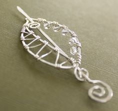 Sterling silver shawl pin or scarf pin in a swirly by IngoDesign, $47.00
