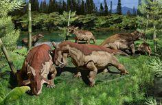 Estas criaturas parecidas al alce americano.   12 extrañas criaturas prehistóricas que harán que te sientas feliz de estar vivo en la actualidad