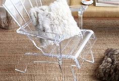 Adirondack Acrylic Chair by Serge de Troyer x x Lucite Chairs, Lucite Furniture, Glass Furniture, Modern Furniture, Acrylic Chair, Acrylic Furniture, Deck Chairs, Adirondack Chairs, Clear Chairs