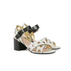Sandali Avorio-oro/nero Donna PE17 - Pollini Online Boutique