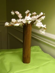Spring Tree Crafts - Simple Toilet Paper Flowering Cherry Trees