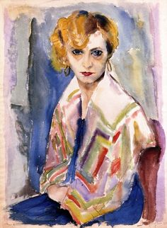 Speedy, the Artist's Wife Rudolf Schlichter - No dates listed Private collection Painting - watercolor Height: cm in.), Width: 55 cm i Famous Artists, New Artists, George Grosz, Degenerate Art, Berlin, Collaborative Art, Watercolor Portraits, Vintage Artwork, Sculpture