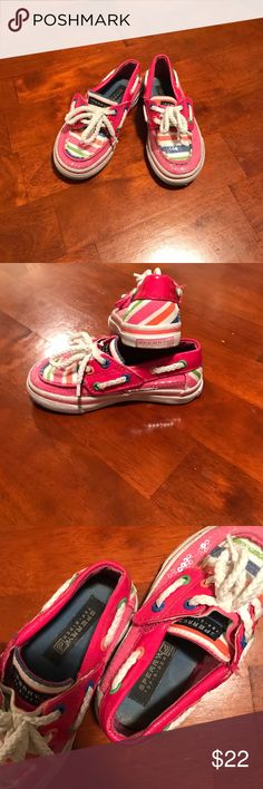 Toddler Sperry Top Sider Bahama Jr. Pink Cute Sperry size 6.5 M. They are in excellent condition there's only a tiny stain (should wash off) on left shoe top bear Velcro closure. Sperry Top-Sider Shoes Baby & Walker