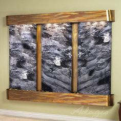 Adagio Deep Creek Falls 69 in. Wall Fountain Black Spider Marble - DCS2007