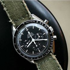 """124 Likes, 2 Comments - Omega Watch Strap (@omega.strap) on Instagram: """"Green Beret, price for $95 (950 ribu) without buckle. How to order this strap? 1. Capture this…"""""""