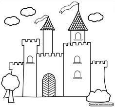 Castle Coloring Pages For Preschoolers | Coloring